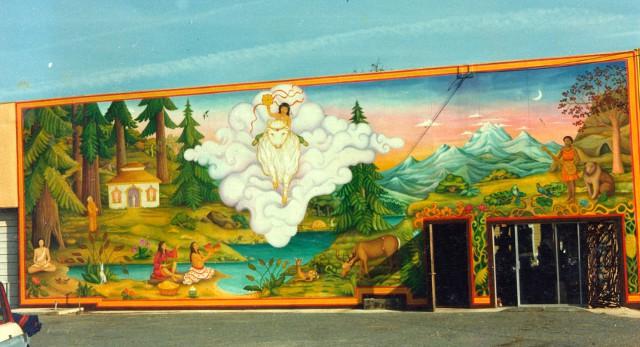 Dakini murals and public art for Bufflon revetement mural